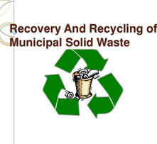 Pre-Processing of Municipal Solid Waste t