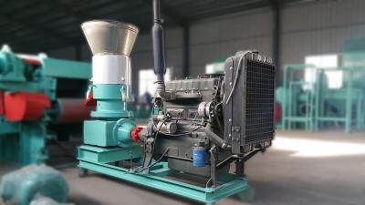 Diesel flat die wood pellet mill
