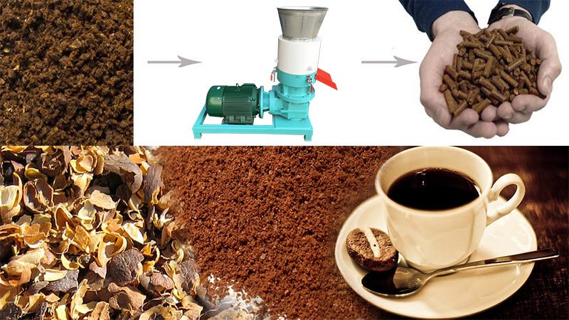 coffee husk pellet