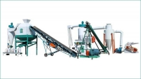 large scale wood pellet plant