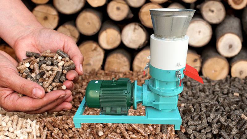 wood pellet make