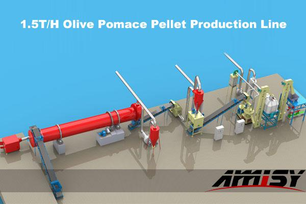 olive pomace pellet production line