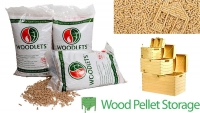 wood pellet storage